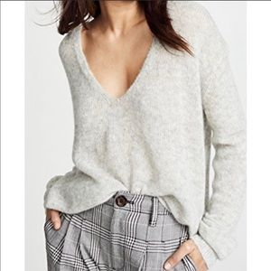 Free People Gossamer Grey V Neck Sweater - Sz XS